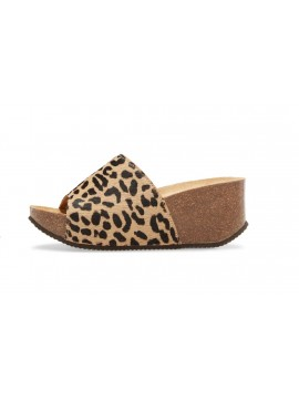 Abella Leopard Beige Calf Hair