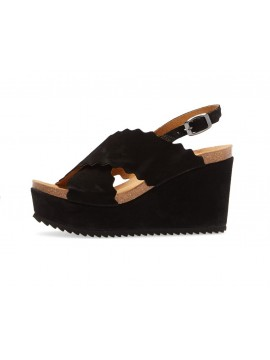 Carolena Black Suede