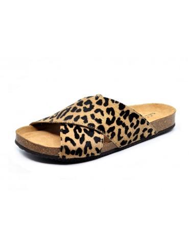 Eden Leopard Beige Calf Hair