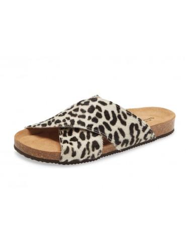Eden Leopard White Calf Hair