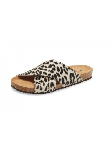 Eden Leopard White Calf Hair