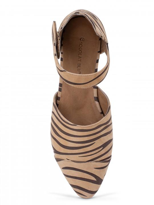 Gaia Tan Zebra Suede