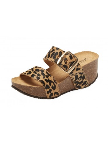 Gina Leopard Beige Calf Hair