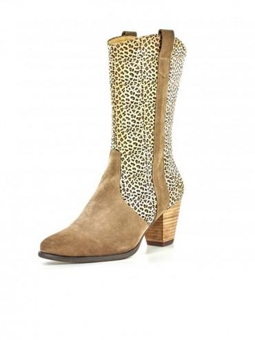 Haddon Cheetah Suede
