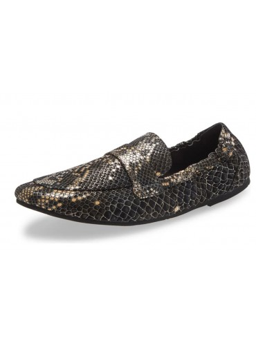 Ida Black Gold Embossed Snake