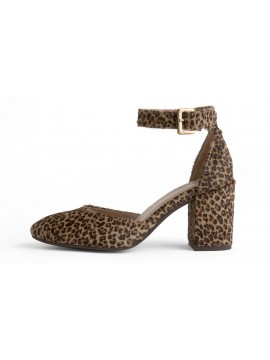 Jan Grey Leopard Calf Hair