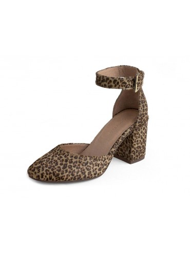 Jan Grey Leopard Calf Hair