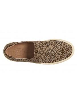 Noella Grey Leopard Calf Hair