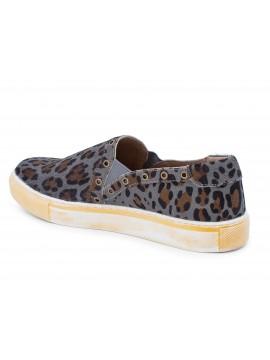 Noella Ash Leopard Calf Hair