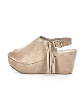 Whit Taupe Suede