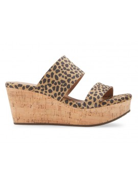 Wise Tan Leopard Suede