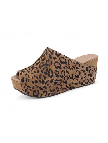 Wynn Brown Leopard Suede