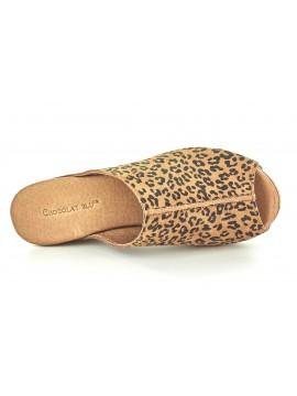 Wynn Rust Leopard Suede